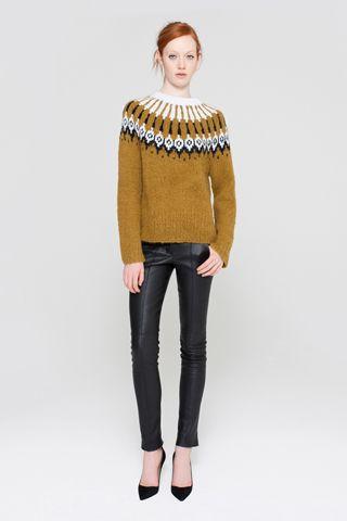 Loving The Resurgence Of Vintage Style Icelandic Nordic Yoke Sweaters Alc F12 Rtw Knit Fashion Fashion Fair Isle Knitting Patterns