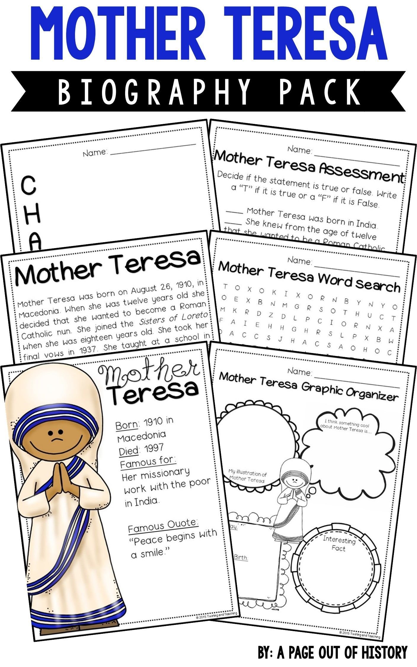 Mother Teresa Biography Pack Women S History