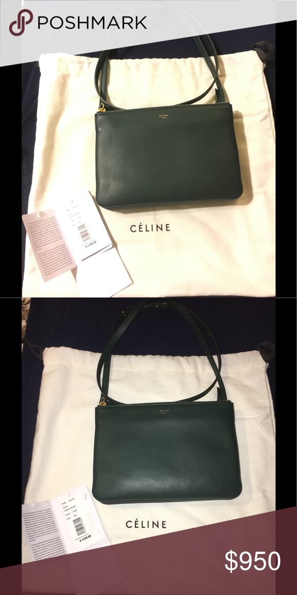 592a0930b0 Final Price🎉🤑Rare Dark Green Celine Trio🔥 Very rare forest Green Celine  Trio crossbody! New with tags and dust bag