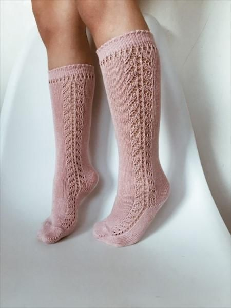 finest selection best deals on superior quality CONDOR Knee High Lace Sock Antique Pink ROSA PALO - Size 000 ...
