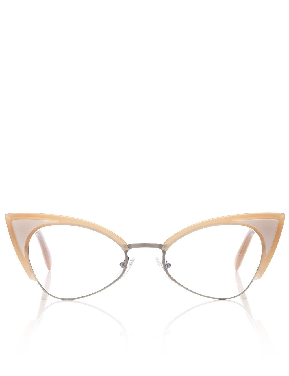 4d1d30f864f9 Nude Cat-Eye Glasses Andy Wolf