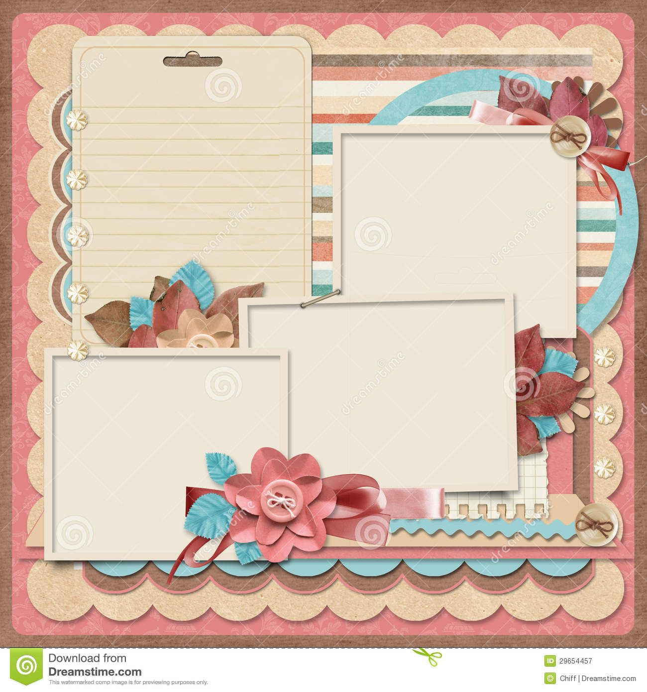 Retro family project scrapbooking templates - Scrapbook background free printables ...