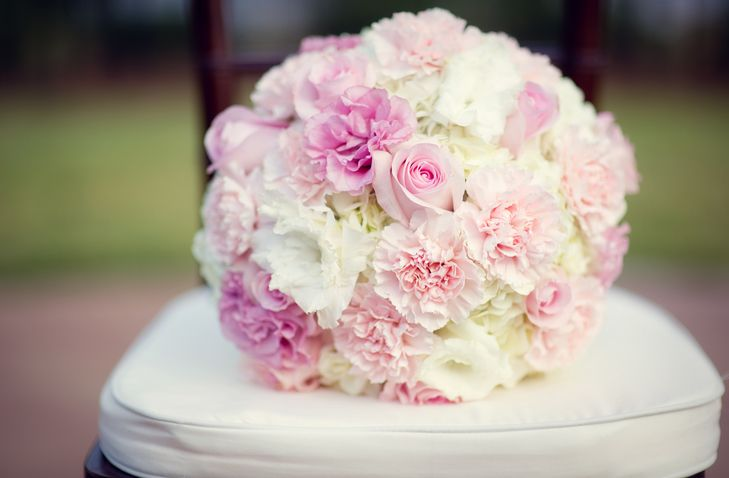 Blush And Ivory Rose Carnation And Lisianthus Bouquet White Carnation Bouquet Lisianthus Bouquet Carnation Bouquet