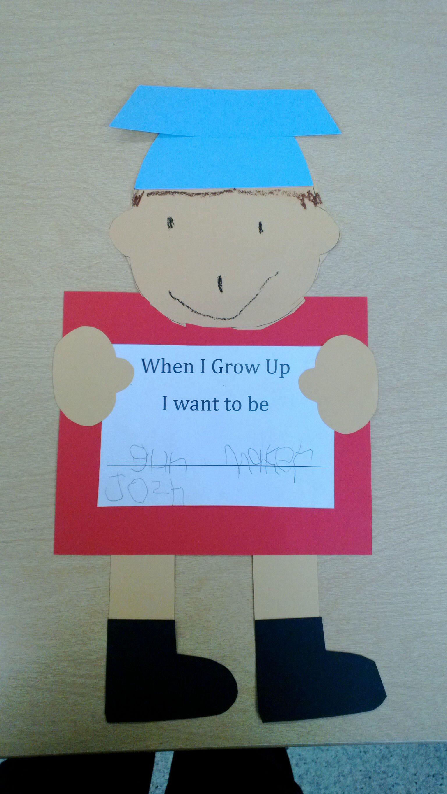 Preschool Graduation Craft When I Grow Up