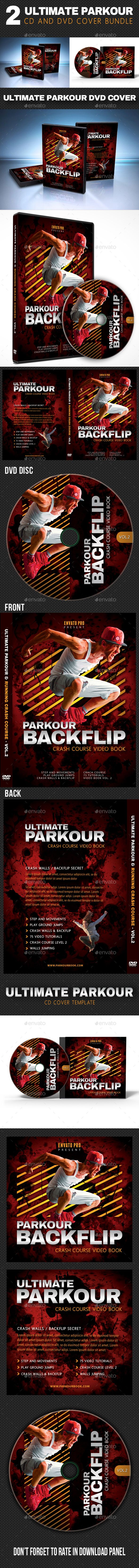 2 in 1 Ultimate Parkour CD and DVD Cover Bundle 02
