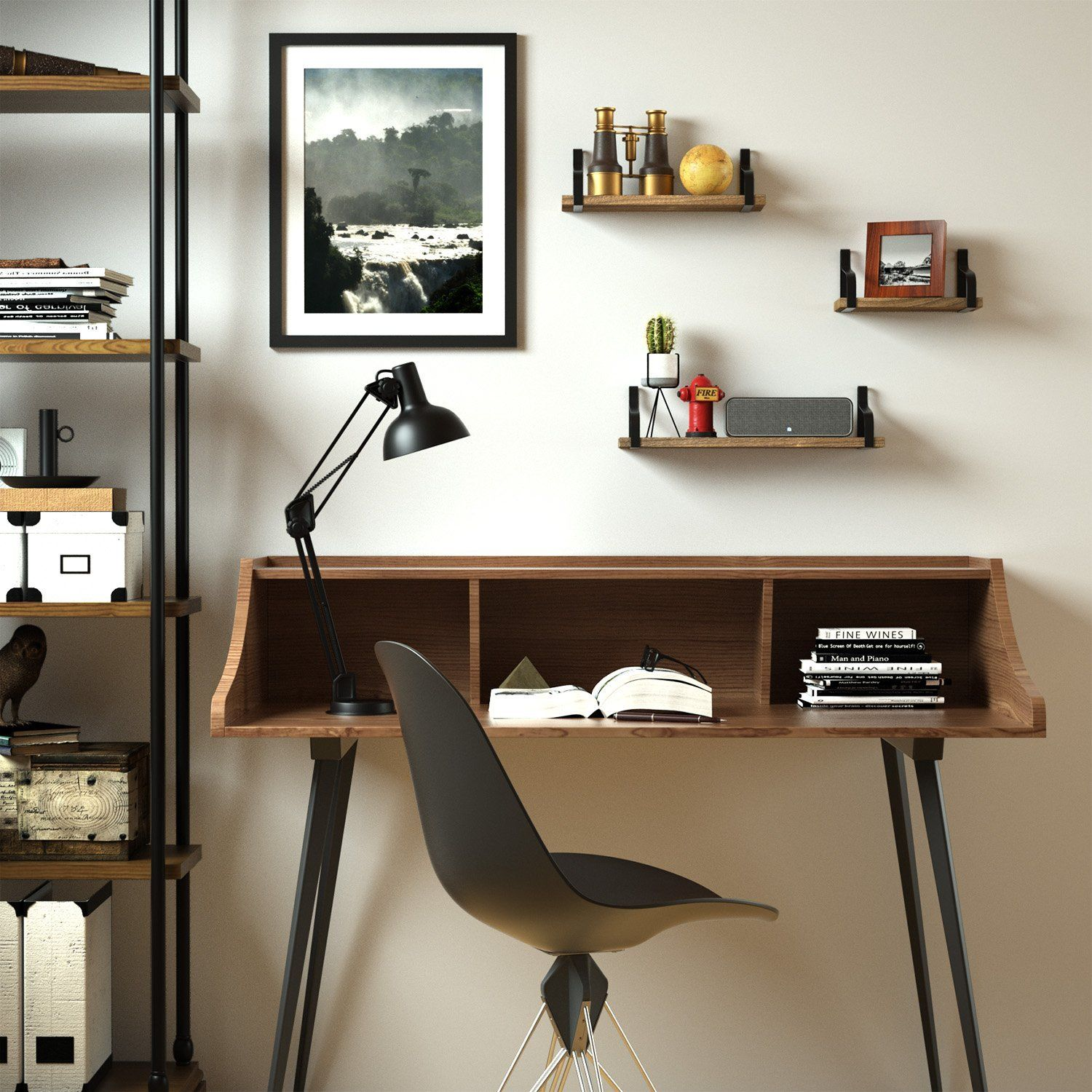 amazon com floating shelves wall mounted set of 3 by love kankei rh pinterest es