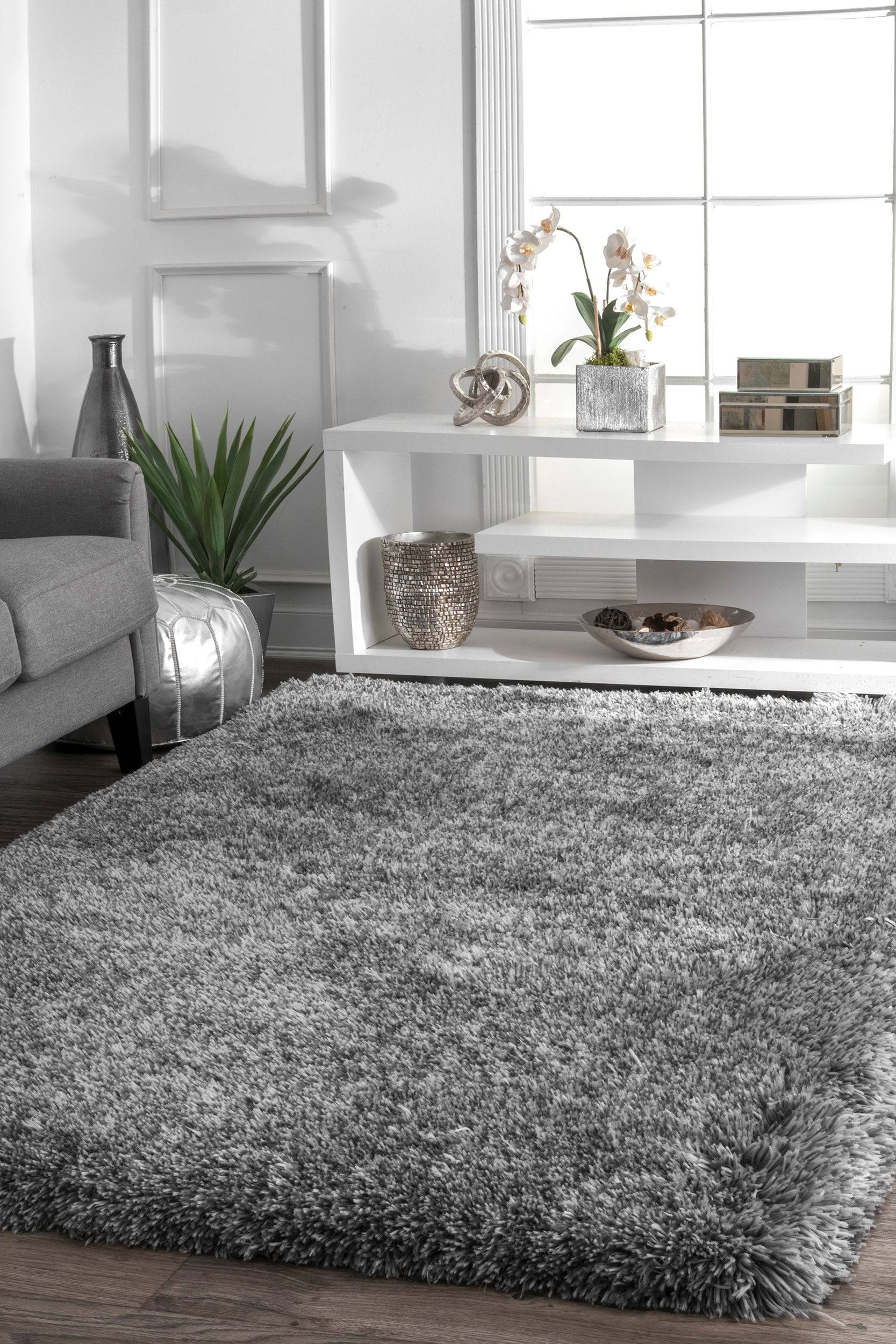 Terrace Fluffy Speckled Shag Ivory Rug Rugs In Living Room Living Room Carpet Rugs On Carpet