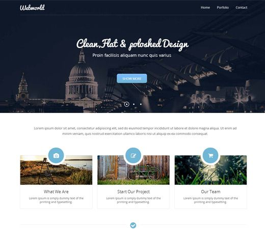 webworld-web | test | Pinterest | Mobile website template ...