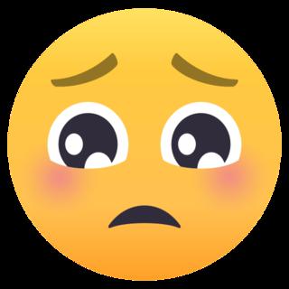Pleading Face On Emojione 4 0 Emoji Emoji Wallpaper Face