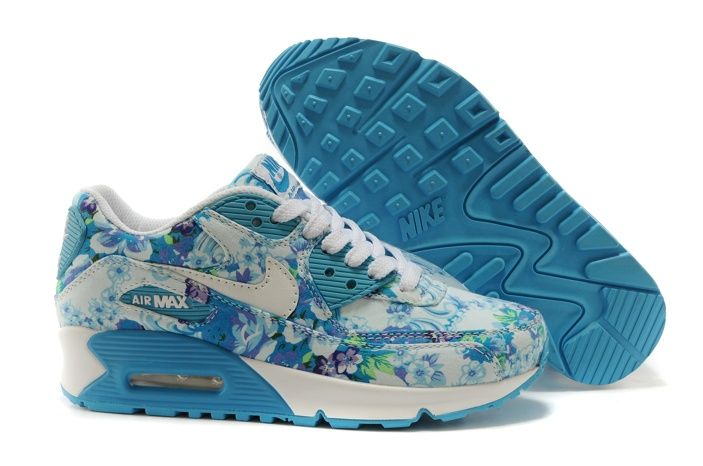 air max 90 blanco y azul