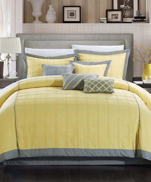 Look at this Yellow Eight-Piece Comforter Set on #zulily today!