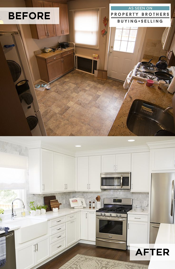 A Dream White Kitchen Came To Life On Property Brothers Buying Selling Inspire Your R Kitchen Remodel Kitchen Remodel Checklist Kitchen Remodel Countertops