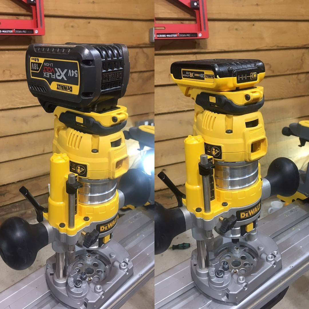 r1julesMust get to doing some work for clients.. Playing in the workshop seems to always lead to 'trouble'... #makelifeeasy #cordless #cordlessrouter #dewalt #flexvolt #carpenter #trimcarpentry