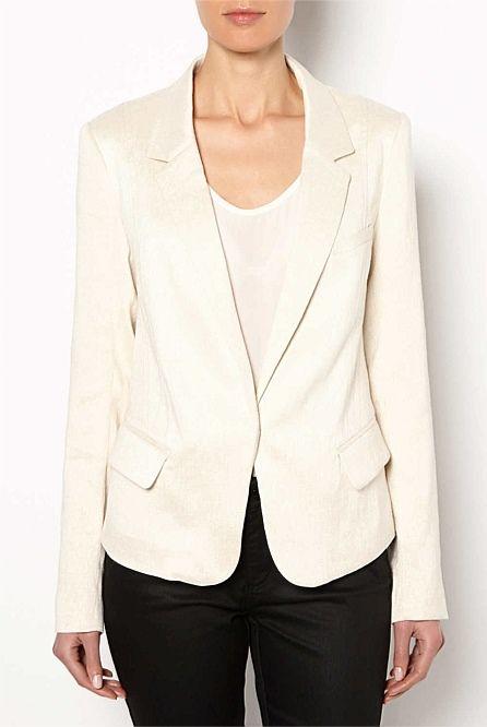 Jackets & Coats - Linen Kick Back Blazer