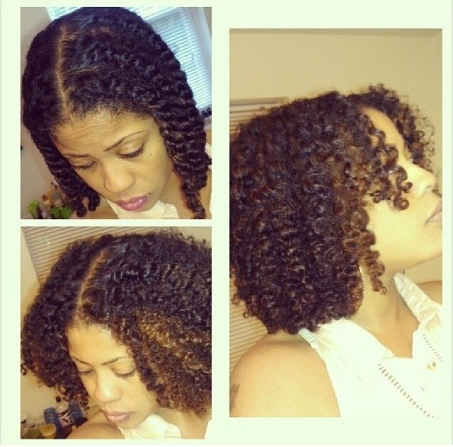 Naturally curly hair. Twist out