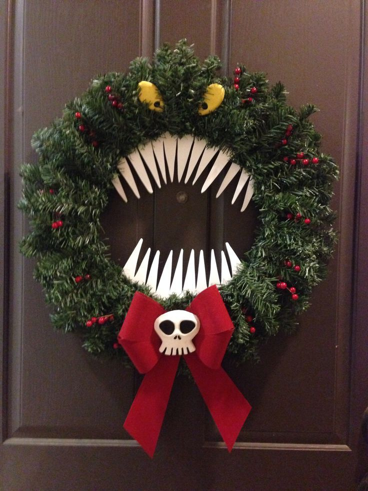 Nightmare before christmas reef christmas decorating Christmas wreath decorations