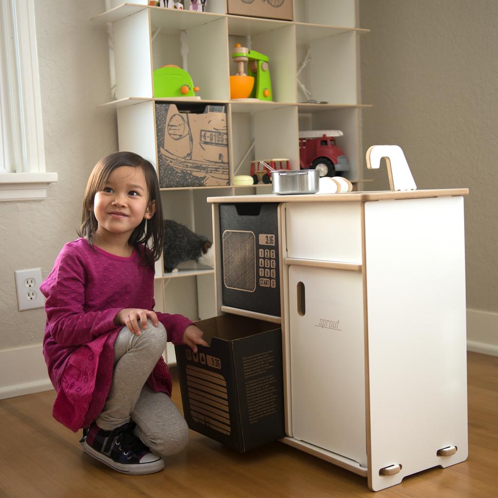 Microwaveoven Cardboard Play & Storage Bins  Kid Organization Glamorous Kitchen Kit Design Ideas