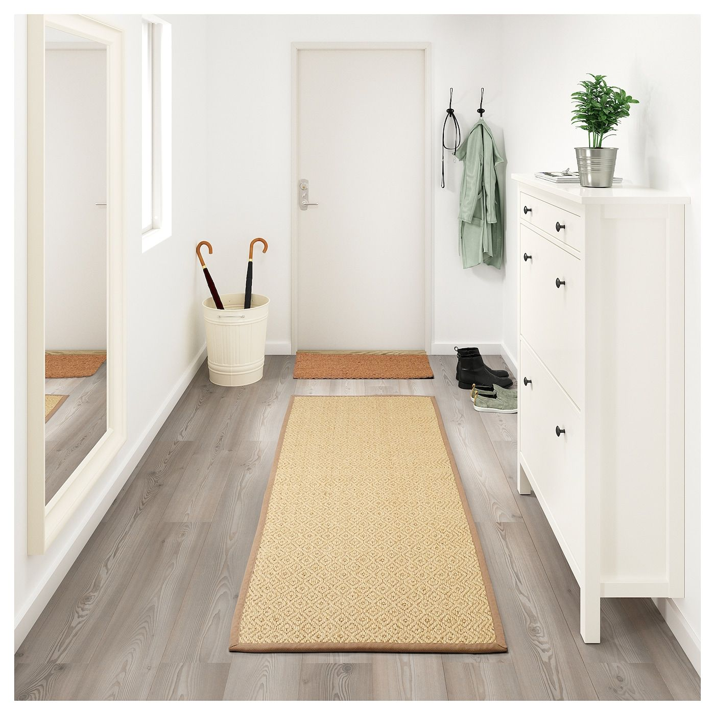 "VISTOFT Rug, flatwoven natural 2 ' 7 ""x8 ' 2 "" (80x250"