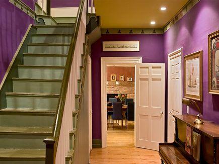 Purple Wall In Hallway Ceiling Is Gold Dec Clr Plumcrazy3 435