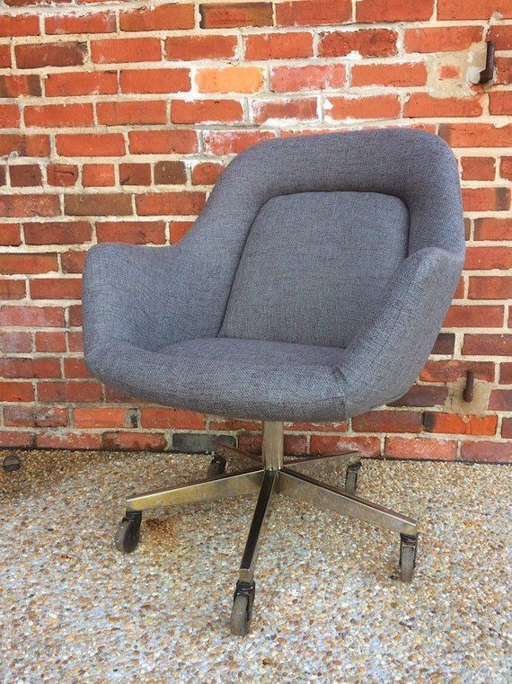 Max Pearson For Knoll Mid Century Modern Executive Chair Rolling