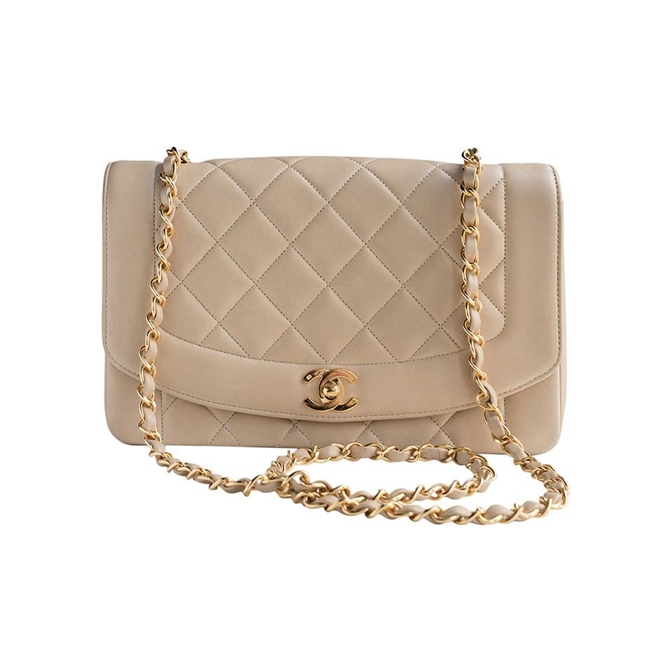 e746fb6d7e44a9 Authentic Chanel Vintage Quilted Cream Flap Bag | From a collection of rare  vintage shoulder bags