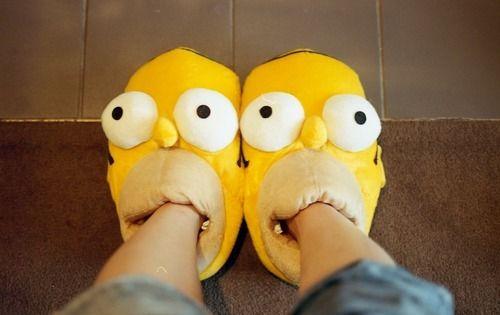 Homer simpson slippers, Slippers, Cute