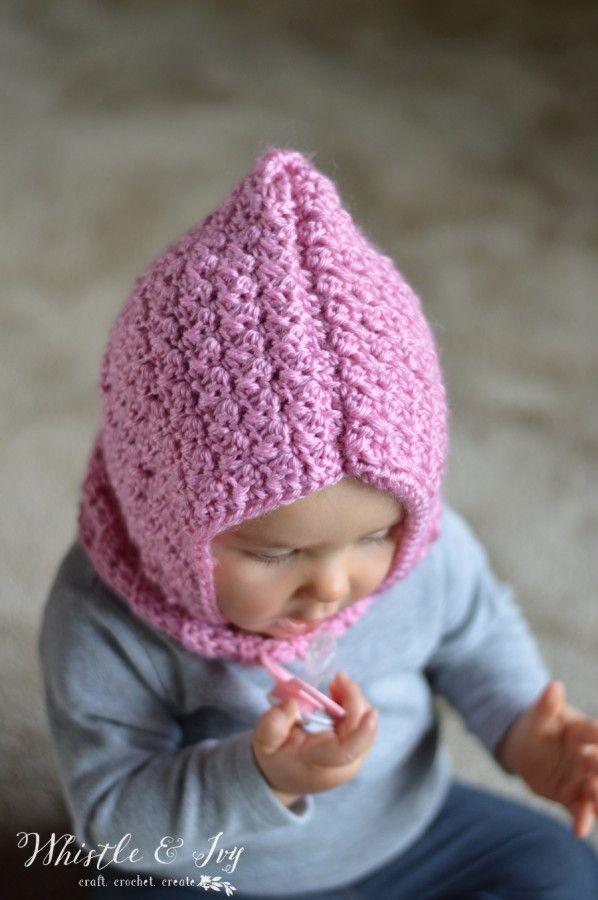 Crochet Baby Hooded Cowl | Mütze, Gehäkelte mützen und Diy häkeln