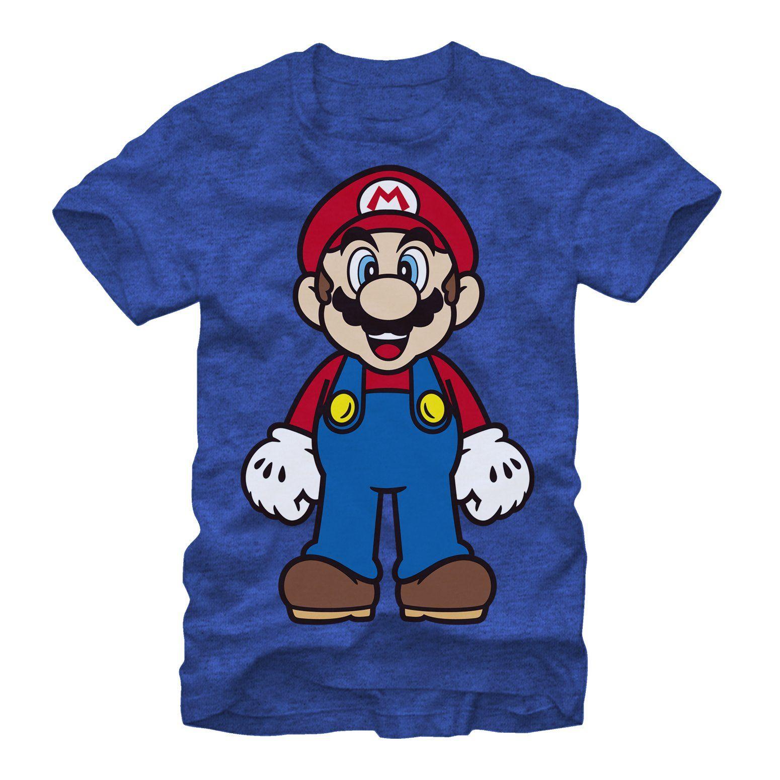 Nintendo Men S Tall Mario T Shirt Royal Heather In 2021 Graphic Tees Royal Blue T Shirt Fifth Sun [ 1550 x 1550 Pixel ]