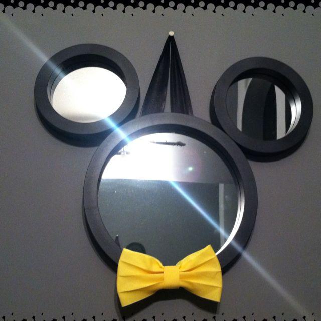 Diy Mickey Mouse Mirror Disney Mirrors Decorations Decorate Decor