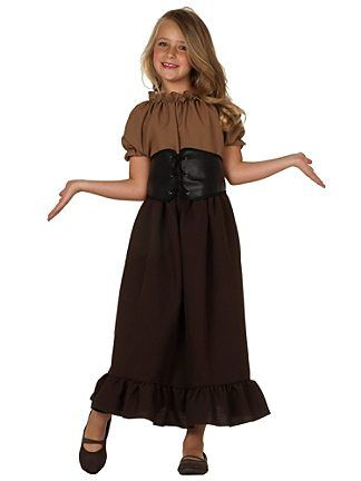 bc78bf867c64b Medieval Times Clothing for children | ... child enchanted blonde wig child  child renaissance peasant girl