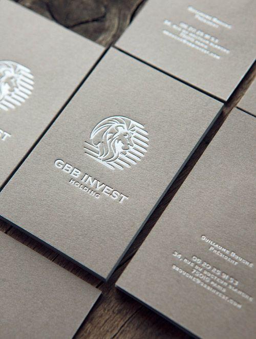 Cartes De Visite Pantone Argent Sur Papier Fedrigoni Sirio Color Pietra