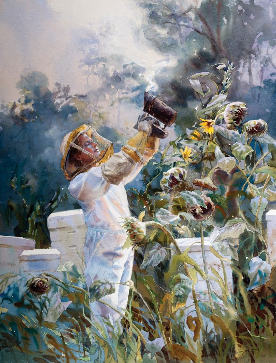 I want to be Mary Whyte when I grow up. Her paintings are incredible.