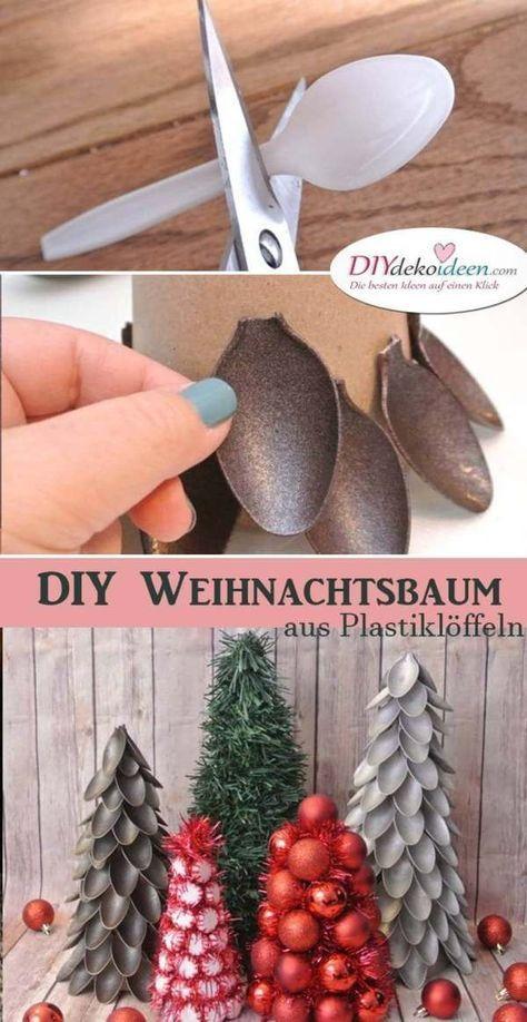 kreative diy weihnachtsbaum deko aus plastikl ffeln. Black Bedroom Furniture Sets. Home Design Ideas