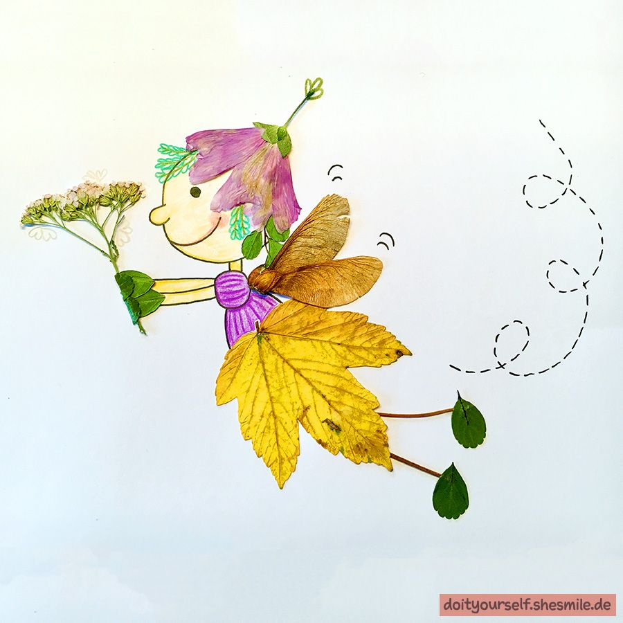 Blätterprinzessinnen und Blätterfeen basteln mit shesmile! Die Utensilo-Tasche Kreativ3 darf natürlich nicht fehlen. #herbstdekobastelnnaturmaterialien