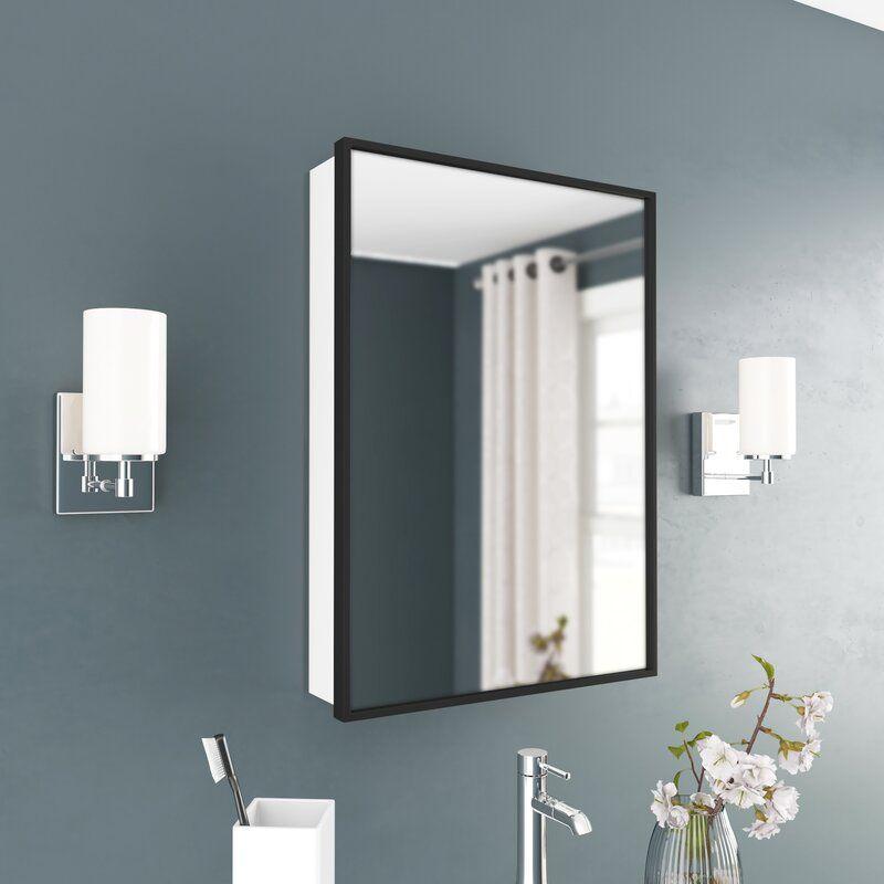 Trae Surface Mount Framed 1 Door Medicine Cabinet With 2 Adjustable Shelves Adjustable Shelving Single Bathroom Vanity Surface Mount Medicine Cabinet