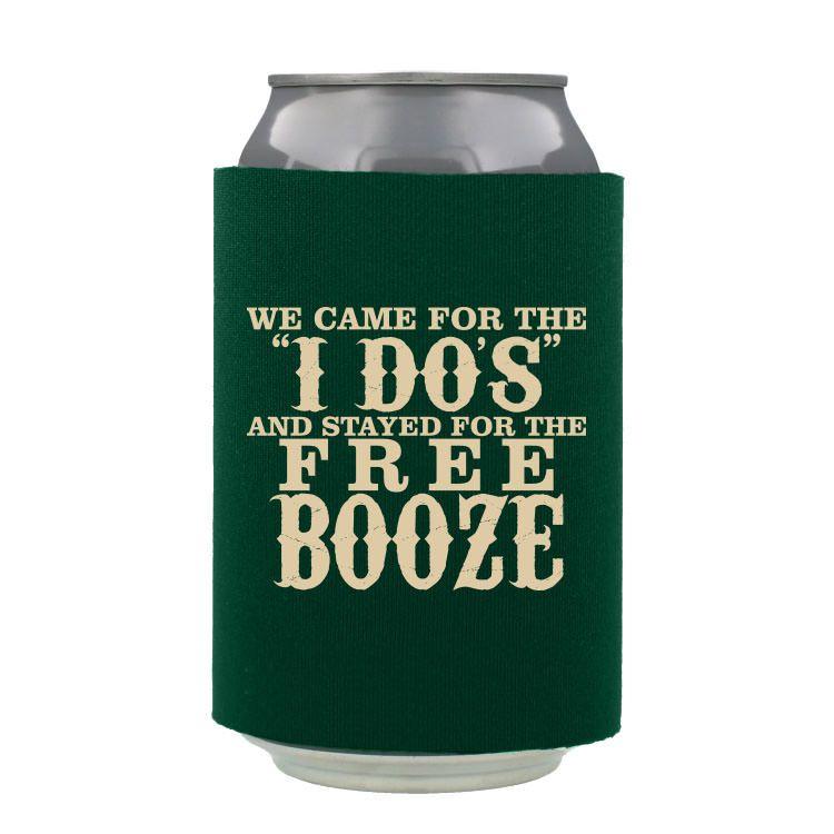 Wedding Foam Can Sleeve Wedding Koozies Funny Wedding Beer Coozies Beer Wedding