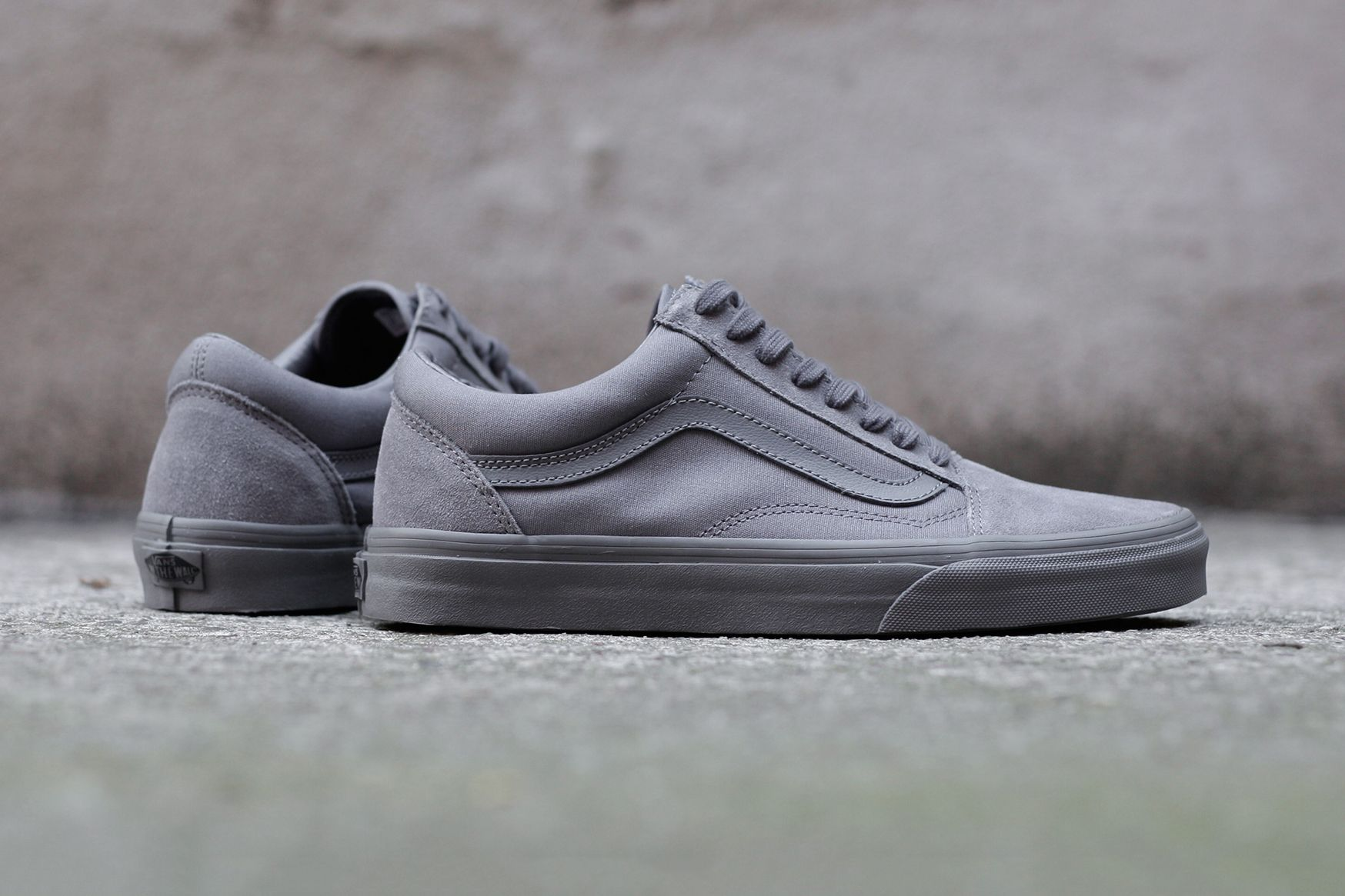 bd0829873f Grey Is the New Black on Vans  Old Skool Mono