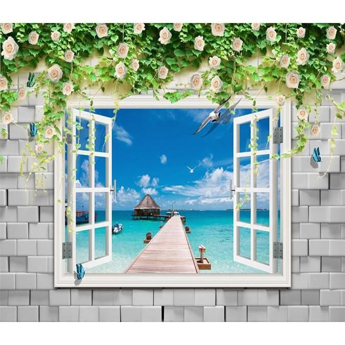 3D Flowers Ocean 238