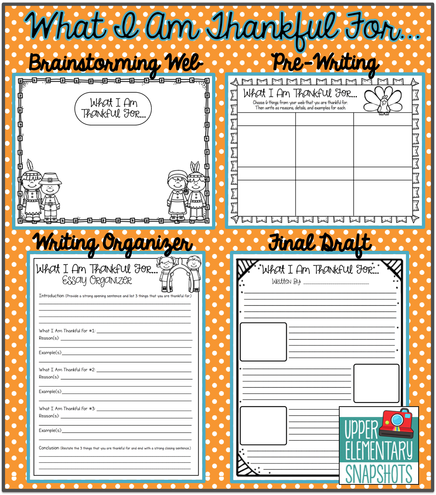 Thanksgiving Writing What I Am Thankful For Plus Freebie