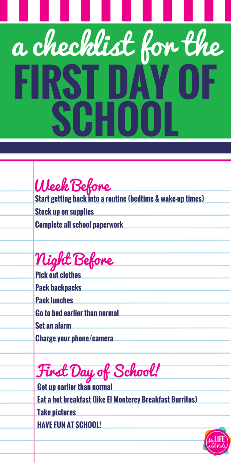 Help your kids have the best first day of school ever with these simple  tips and activities to keep your morning on track. From finding the perfect  outfit ... 621a554037