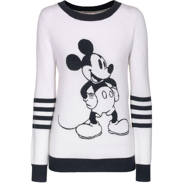 Rosa von Schmaus Mickey Stripes White Patterned cashmere sweater ...