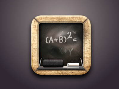Blackboard Icon created with Sketch Icon, Ios app icon
