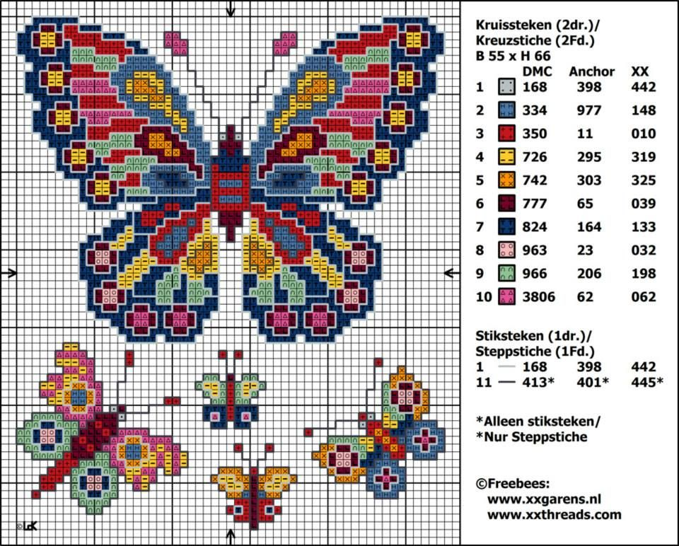 Butterfly Cross Stitch Pattern Free Stitches Pinterest New Cross Stitch Free Patterns