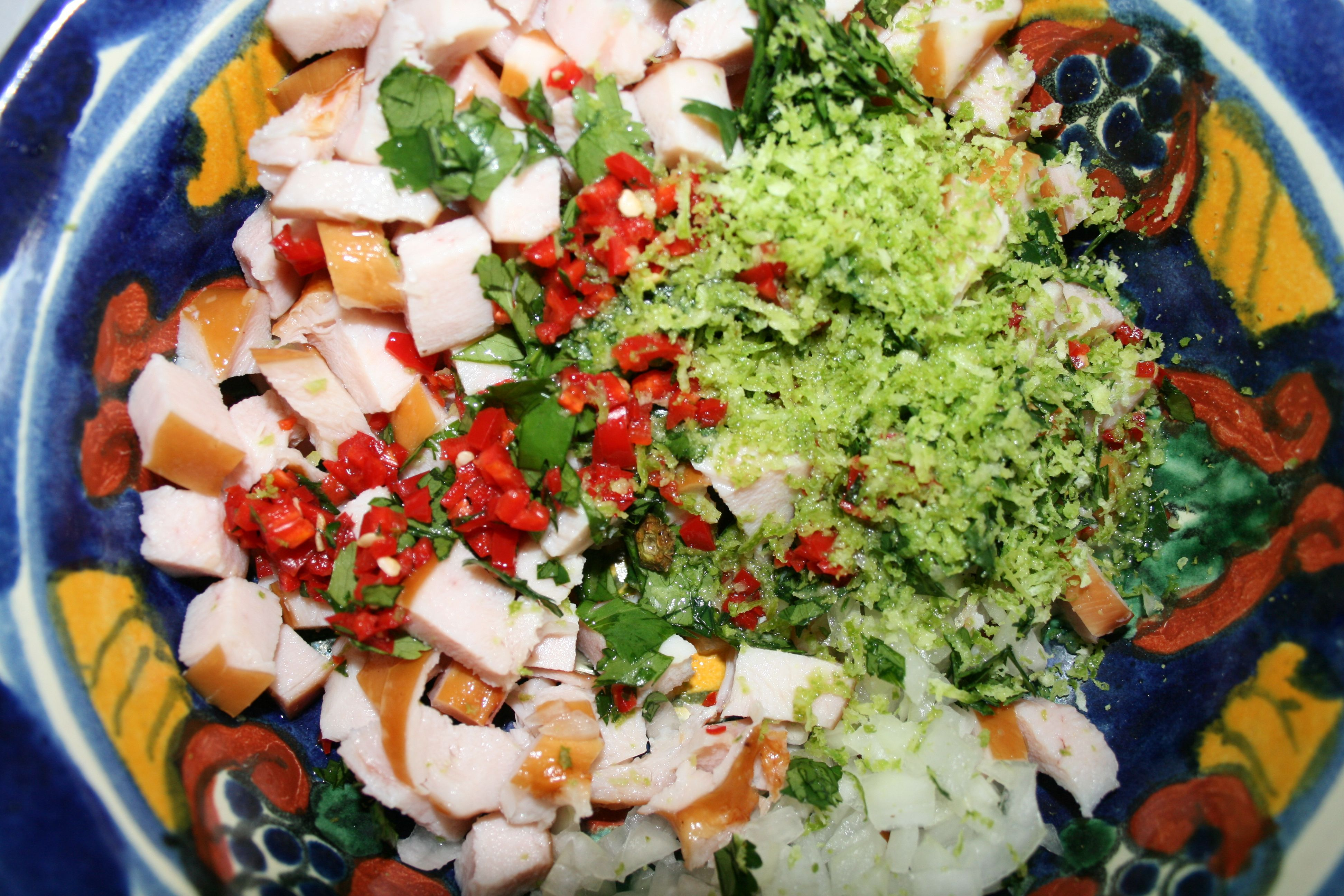 Thai smoked chicken salad