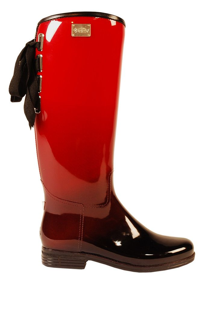 Eve Ombre Black/Red | däv | Rainboots | Pinterest | Coloring ...