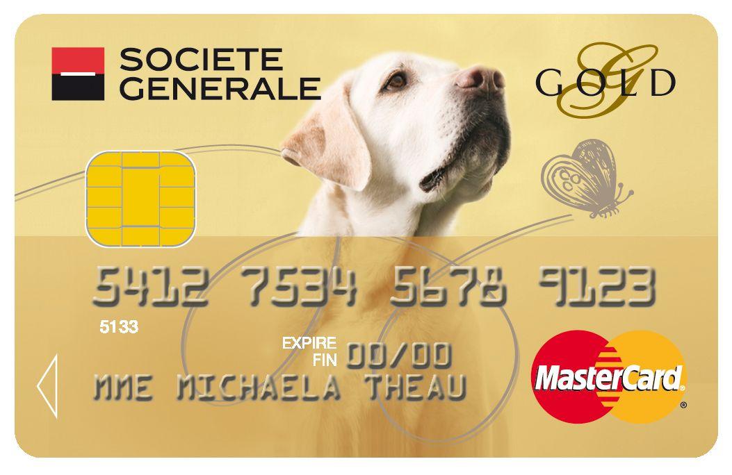 Carte Gold Mastercard Societegenerale Chat Animaux Cat