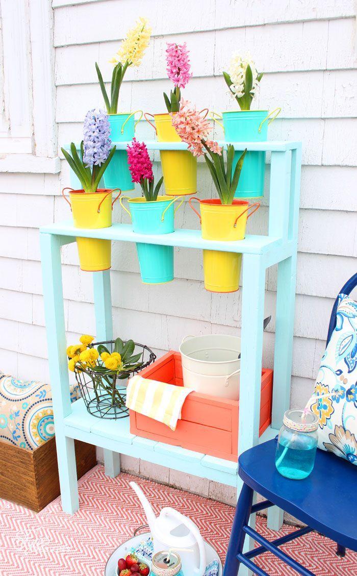 Easy to build DIY Patio Planter for $10!!