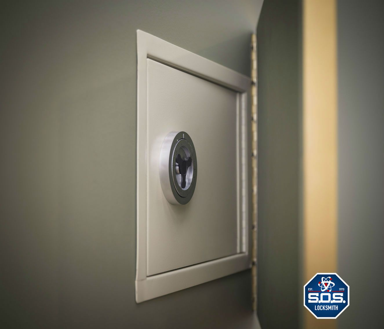 Unlike Large Floor Safes A Wall Safe Can Be Hidden Behind Numerous Items Things Such As A Picture Mirror Bookshelf Locksmith Services Locksmith Installation