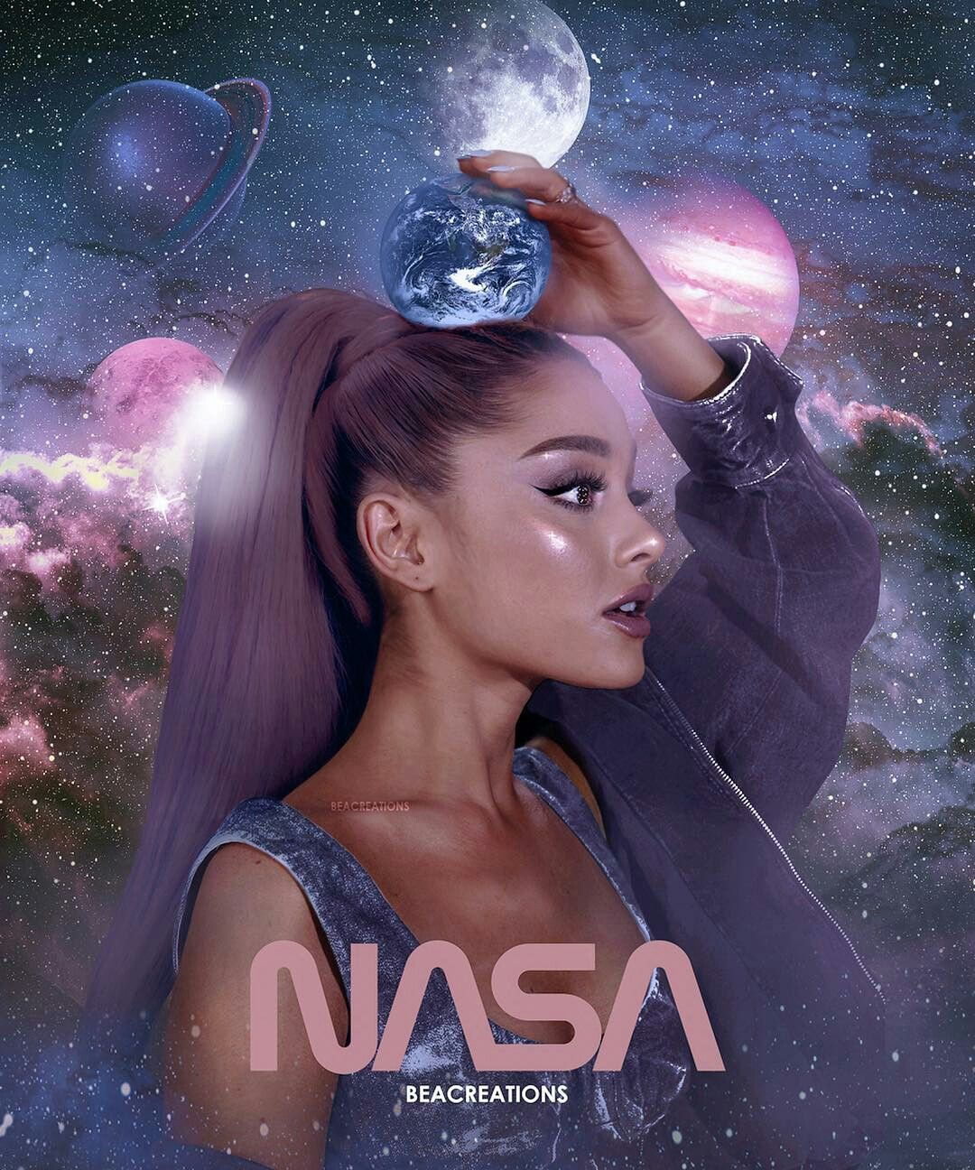 Ariana Grande Wallpaper Thank You Next: It's Like I'm The Universe And You'll Be Nasa
