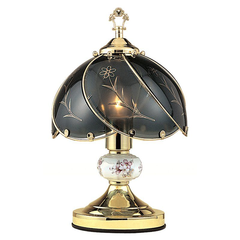 Ore international k31 floral table touch lamp k31